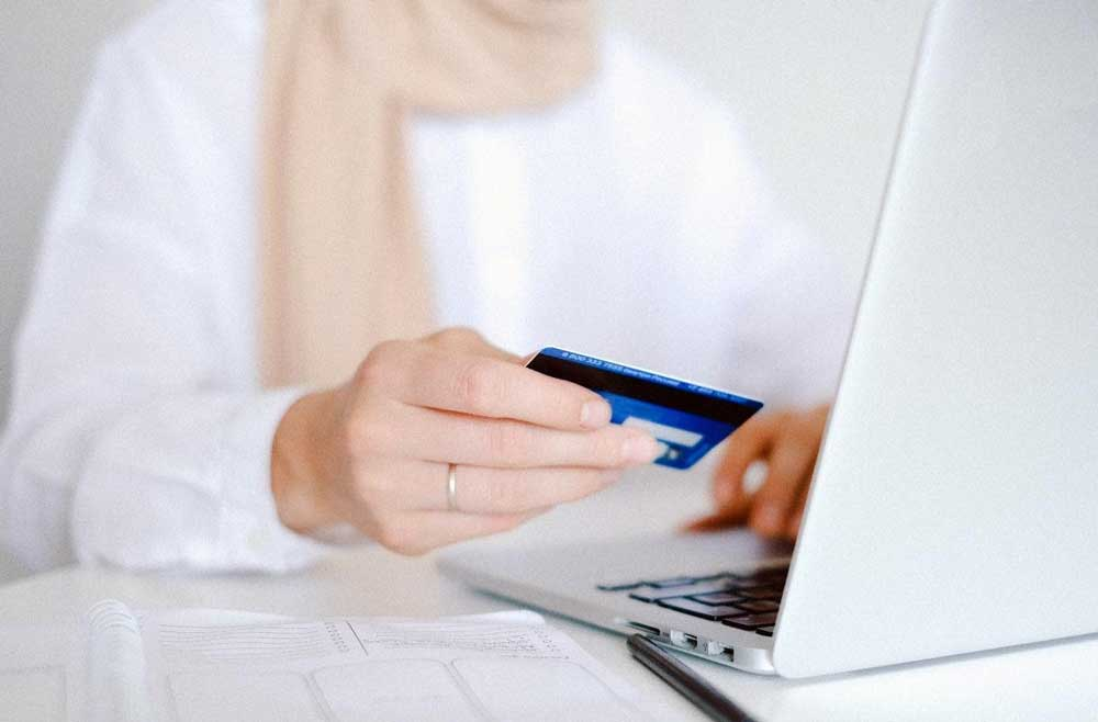 Credit Card With Laptop